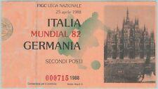 68543 -  BIGLIETTO PARTITA CALCIO 1982: ITALY /  GERMANY - FIFA WORLD CUP