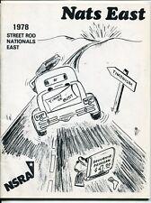 "1978 NSRA Racing Program: ""Nats East"" [Street Rod Nationals East]"