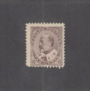 CANADA (MK4196) # 93 F-MH  10cts  KING EDWARD VII /BROWN LILAC CAT VALUE $200