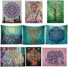 Indian Elephant Mandala Hippie Wall Hanging Tapestry Gypsy Bedspread Throw Cover