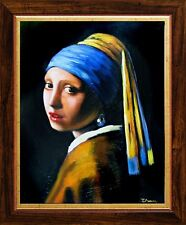 Jan Vermeer-Das Mädchen mit dem Perlenohrring-32x27cm Ölgemälde