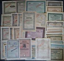 100 DIFFERENT GERMAN SHARES from 1870-1942, incl. THALER paper, MANNESMANN etc.