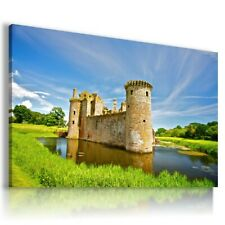 ENGLAND Caerlaverock CASTLE Canvas Wall Art Picture Large L98 NOFRAME MATAGA .