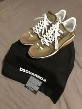 Authentic DSquared2 551 Sneakers Size 41 EUR Army green And Brown Suede NIB