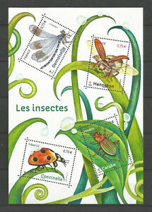 FRANCE 2017...Miniature Sheet  MNH ** Les Insectes