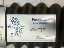 """Sepia 100% Human Hair Fanciweave Weft extensions 18"""" color 6 DWW 18"""