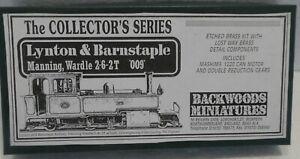 BACKWOODS MINIATURES NARROW GAUGE 009 SCALE KIT  2-6-2T LYNTON &BARNSTAPLE