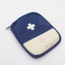 Travel First Aid Kit Bag Pouch Band-Aid Medicine Pill thermometer Organizer-Blue