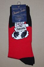 AMERICAN EAGLE OUTFITTERS MENS ONE SIZE CHRISTMAS SOCKS~SANTA WITH HATERS LIST
