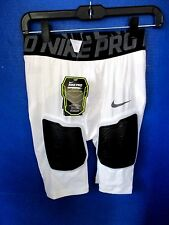 NIKE PRO~White HYPERSTRONG HARD PLATE FOOTBALL SHORTS~Men's Large~NWT