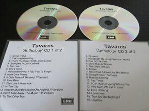 TAVARES - ANTHOLOGY. 2X PROMO CD ALBUM. SUPER RARE. UNISSUED IN UK