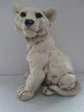Vintage Lion cub 1973 Gc Gallery Creations plaster chalkware statue