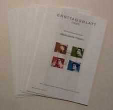 BRD, Erstagsblätter 1975 komplett (Nr. 1 - 24).