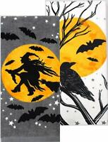 """Celebrate Halloween Together 16.5"""" X 26"""" Witch Silhouette Kitchen Towels"""