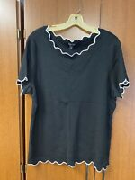 Roz & Ali Black and Red Women's Blouse Size 2x