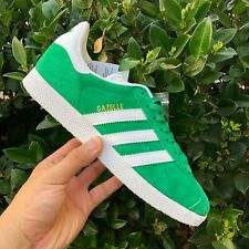 BRAND NEW ADIDAS GAZELLE MEN'S GREEN/SHITE/GOLD METALLIC SNEAKER BB5477