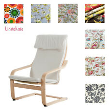 Custom Made Armchair Cover, Fits IKEA Poang Chair, Patterned Fabrics
