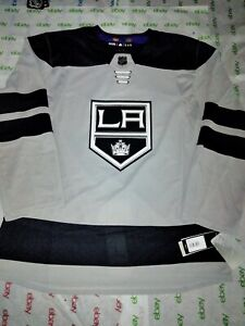 Adidas LA Kings NHL Climalite Authentic Gray Alternate Hockey Jersey Size 52 NWT