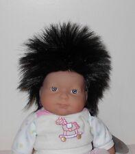Mini World SENJI Doll Wig Size 12/13~BLACK~Ponytail Wig~Full Cap~Modacrylic