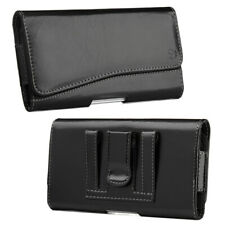Leather Holster Belt Clip Carrying Case Pouch For iPhone Samsung Large Cellphone
