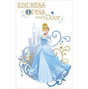 Disney PRINCESS CINDERELLA wall stickers MURAL 2 big decals KINDNESS OPENS DOOR