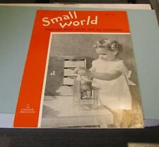 1951 Small World Toy Retailer Advertising Magazine Doll Furniture Bicycles Bears