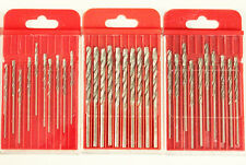 30 PCS Diamond Coated HSS Twist Drill Bits Grit 120 for Glass Marble Tile Stone