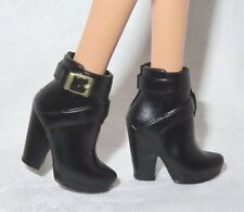 SHOES ~ MATTEL BARBIE DOLL MODEL MUSE URBAN JUNGLE FAUX GOLD BUCKLE ANKLE BOOTS