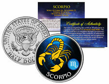 SCORPIO Horoscope Astrology Zodiac Kennedy U.S. Colorized Half Dollar Coin