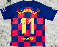 Barcelona Ousmane Dembele Signed Soccer Jersey - Auto Beckett BAS COA