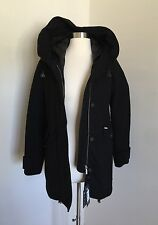 J Crew Woolrich John Rich & Bros Techno Wool Eskimo parka Xs Black $995 b1817