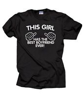 The Best Boyfriend Ever T-Shirt Anniversary Christmas Gift For Girlfriend Tee