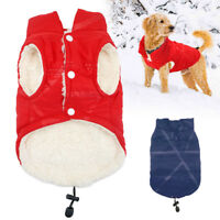 Dog Winter Warm Fleece Jacket Coats Vest Sweater for Small Medium Large Dogs