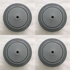 "5"" x 1-1/4"" Replacement Dolly Caster Thermoplastic Rubber Wheels only (4)"