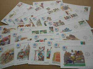 23 USA Stamps 1984 OLYMPICS LOS ANGELES OFFICIAL First Day Covers COLLECTION