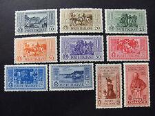 "ITALIA,ITALY REGNO 1932 ""Garibaldi"" 10V Cpl. SET MH ss.315/324"