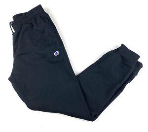 Champion Mens Joggers Sweatpants Sz Medium Black Logo