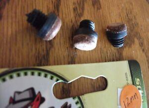 Screw-on Cue Stick Tips Fat Cat Billiards 3 12mm tips Plastic Thread