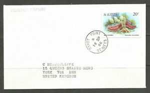 OSBURGH – ST. KITTS. 1986. COVER. SANDY POINT TO YORK. FISH / SEA CREATURES