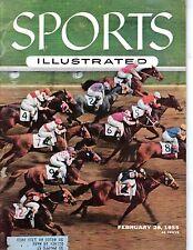 1955 2/28 Sports Illustrated magazine, Horse Racing, Swaps, Santa Anita Derby~Gd