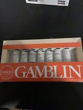 New listing Gamblin Artist's Oil Colors 7 Tube Set 37ml 1.25oz in Wooden Canvas Brand New!