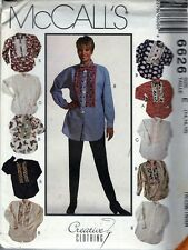 SHIRTS & Bow Tie Pattern MCCALL'S 6626 MISSES Ladies WARDROBE SZ 14 TO 18