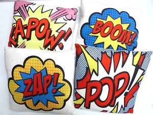 Cushion Covers Printed Digital Super Hero **POP** KAPOW** BOOM **ZAP**