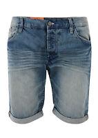 New Blend Men's Denim Shorts Blue Vintage Faded Summer Jean Short