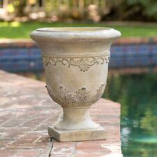 """20"""" Tall Aged Roman Design Outdoor Garden Antique Green Urn Planter Flowers Pot"""