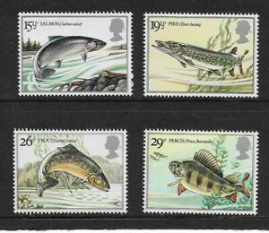 1983 GB.- BRITISH RIVER FISHES - COMPLETE SET - MINT AND NEVER HINGED.