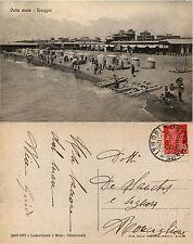 Ostia mare, roma, LA spiaggia, animata perfetto stato, viagg.1930