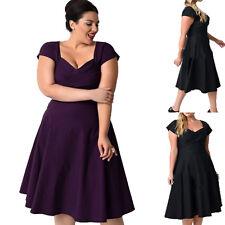 PLUS  XL-5XL Women Short Bridesmaid Formal Dress Evening Cocktail Party Tea Gown