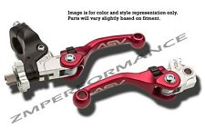 HONDA TRX400EX F4 SHORTY ASV CLUTCH AND BRAKE LEVERS RED PAIR PACK