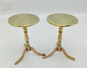 A Good Pair of Antique Victorian Brass Candle Reflectors in form of Flip Tables
